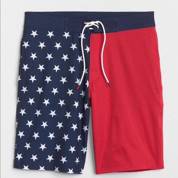 GAP Other - NWT gap American flag swim shorts